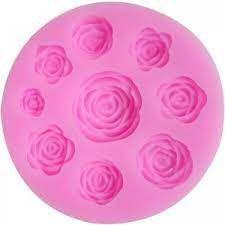 Molde de Silicone 9 Rosas