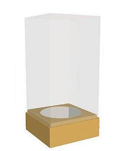 Caixa Mini Bolo Cilindro Ouro Pct c/10