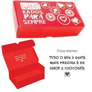 Caixa p/ 8 doces Namorados pct c/ 10 caixas