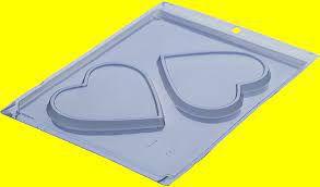 Forma de Acetato Simples Placa Coração Porto Formas