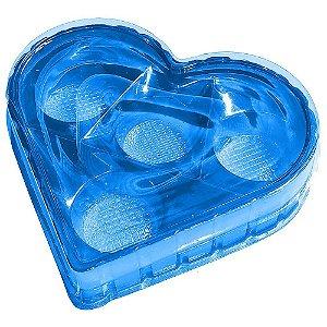 Caixa Coração Candy Box Azul 4 doces Pct c/ 10