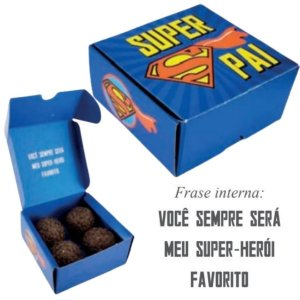 Caixa 4 Doces Super Pai Pct / 10 caixas