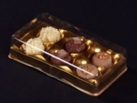 Candy Box Ouro Metalizado p/ 6 doces pct c/10