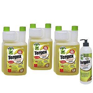 Kit Tergex Detergente Concentrado 3 unidades e Aplicador e Funil
