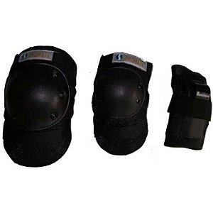 Kit Proteção Adulto Em Preto