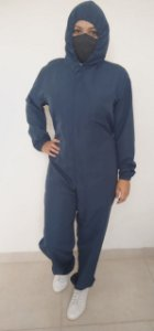 Macacão Unissex Azul Jeans