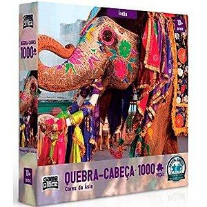 Quebra-Cabeça 1000 peças - Cores da Asia - India