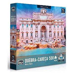 Quebra-Cabeça 500 Peças - Bella Italia - Fontana Di Trevi