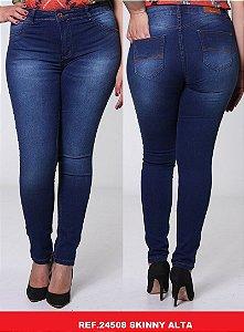 Calça Jeans Biotipo Feminina Skinny Cós Alto Com Elastano - 24508