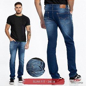 Calça Jeans Biotipo Masculina Slim Fit Com Elastano - 24634