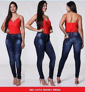 Calça Jeans Biotipo Feminina Skinny Cós Médio Com Elastano - 24754