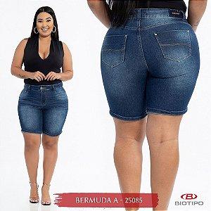 Bermuda Jeans Biotipo Feminina 1/2 Coxa Cós Alto Com Elastano - 25085