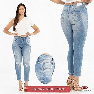 Calça Jeans Biotipo Feminina Skinny MID Cós Médio Com Elastano - 25882
