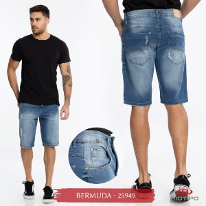 Bermuda Jeans Biotipo Masculina Com Elastano - 25949