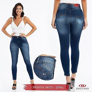 Calça Jeans Biotipo Feminina Skinny MID Cós Médio Com Elastano - 25962