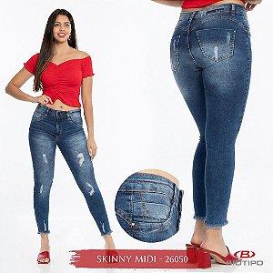 Calça Jeans Biotipo Feminina Skinny MID Cós Médio Com Elastano - 26050
