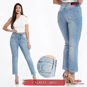 Calça Jeans Biotipo Feminina Cal Reta Cós Médio Com Elastano - 26070