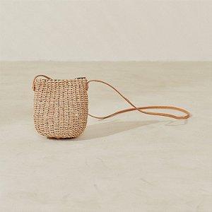 Bolsa Seagrass C/ Couro Baldin G