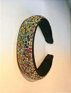 Tiara Decorada com Pedras - Coloridas