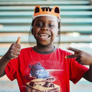 Face Shield Infantil Tigre Protetor de Rosto Transparente Máscara