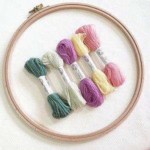 Fios de lã para bordado Fine | Coloridos| Fios da Fazenda