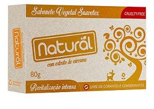 Sabonete Vegetal Natural Suavetex com Extrato de Cúrcuma 80g – Orgânico Natural