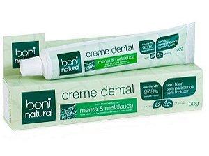 Creme Dental Natural Menta e Melaleuca 90g - Boni Natural