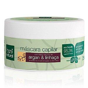 Máscara Capilar Argan e Linhaça 250g -  Boni Natural