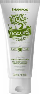 Shampoo Natural com Óleos de Coco e Argan 237mL - Orgânico Natural