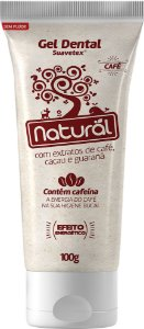 Gel Dental Natural Suavetex com extratos de Café, Cacau e Guaraná - Orgânico Natural
