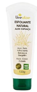 Esfoliante Natural Aloe Cupuaçu 120ml - Livealoe