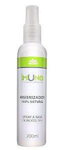 Spray Higienizador Imuno 100% Natural a Base de Álcool 70 com 200ml – WNF