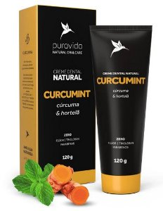 Creme Dental Natural Curcumint 120g - Puravida