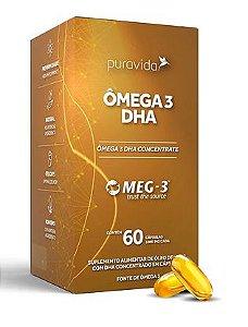 Ômega 3 DHA 60 cápsulas - Puravida