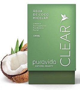 Água Micelar de Coco 120ml - Puravida