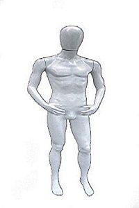 Branco - Manequim Masculino Wesley