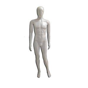 Branco - Manequim De Resina Plástica Masculino