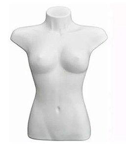 Branco - Busto feminino Siliconado