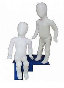 Branco - Manequim Baby Articulado