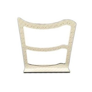 Exp. mdf Off White - placa de brinco