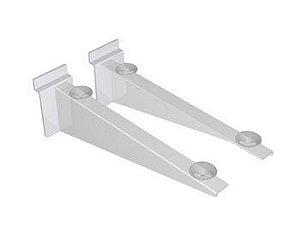 Suporte de Vidro Para Painel Branco 30CM
