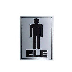 Placa Indicativa Banheiro Ele/Ela