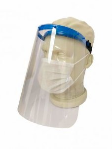 PROTETOR FACIAL FACE SHIELD AZUL