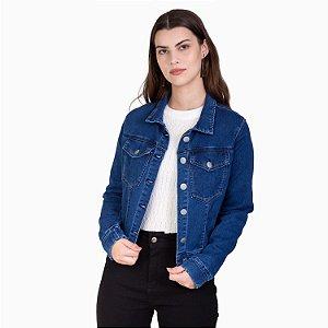 Jaqueta Jeans Feminina Com Elastano