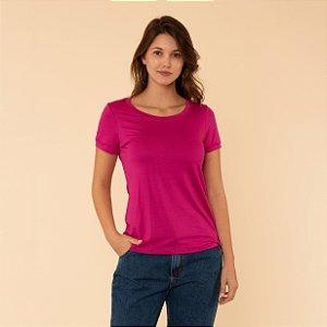 Blusa Feminina Básica Decote Redondo