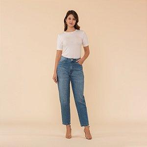 Calça Jeans Mom Lavada