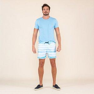 Shorts Masculino Praia Estampado Listrado