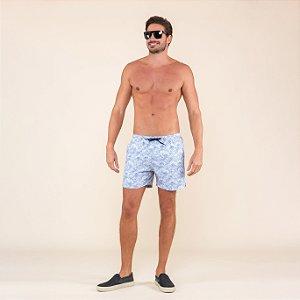 Shorts Masculino Praia Estampado Ondas