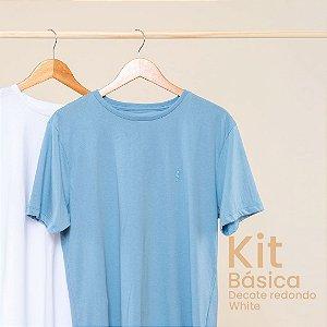 Kit Camiseta Masculina Básica Careca White