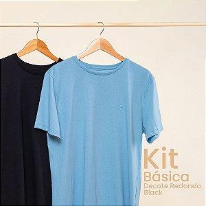 Kit Camiseta Masculina Básica Careca Black